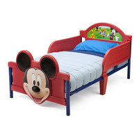 Delta Children Disney Mickey Mouse 3D Convertible Toddler Bed & Reviews | Wayfair