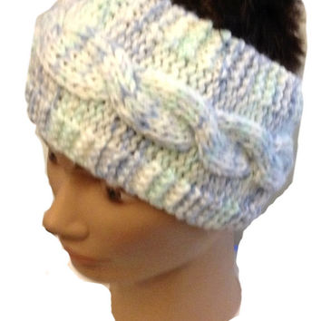 Scarflette Headband PDF Knitting Pattern Easy Headwarmer Earwarmer Is not a finished product. It is a PDF Pattern with instructions