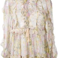Zimmermann Valour Ruffle-trimmed Floral Blouse - Farfetch