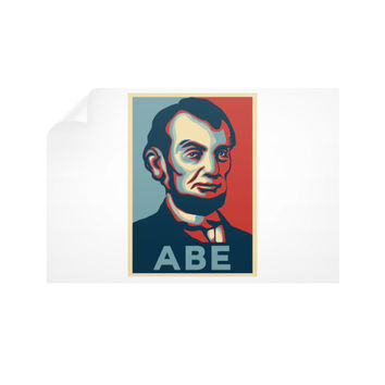 """ABE Lincoln ""Hope"" Design"" Horizontal Wall Decals"