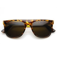 Hipster Super Flat Top Retro Horned Rim Sunglasses 8775
