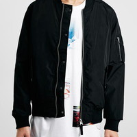 Black MA1 Bomber Jacket - Men's Jackets & Coats - Clothing