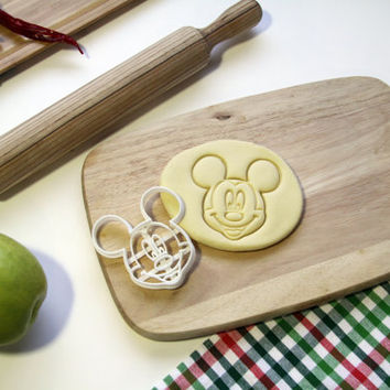 Mickey Mouse Cookie Cutter Disney Cookie Cutter Cupcake topper Fondant Gingerbread Cutters - Made from Eco Friendly Material