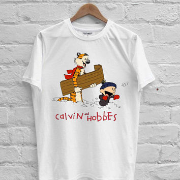 Calvin and Hobbes sing T-shirt Men, Women Youth and Toddler