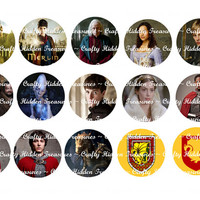 "BBC Merlin 1"" Bottle Cap Digital Image - 4x6 1 inch Digital Collage sheet"