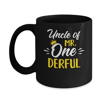 Uncle Of Mr Onederful 1st Birthday Party Costumes Gifts Mug