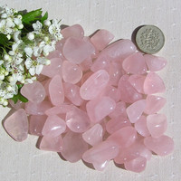 10 Rose Quartz Crystal Tumblestones
