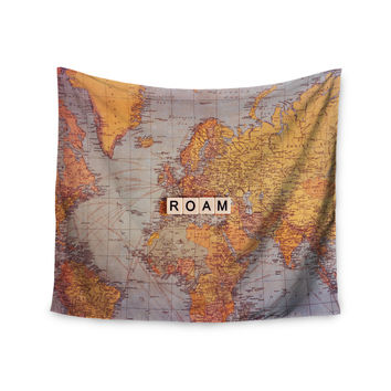 "Sylvia Cook ""Roam Map"" World Wall Tapestry"