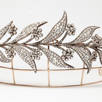 The Downton Abbey Georgian Diamond Floral Tiara worn by Lady Mary on her wedding day to Matthew Crawley