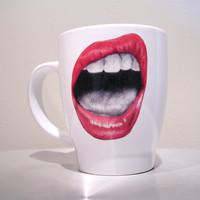 White ceramic mug - coffee mug - mug - ceramic mug - white mug - Intensity