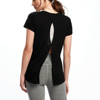 Go-Dry Cool Keyhole-Back Top for Women | Old Navy