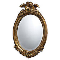 Arden Mirror, Antiqued Gold Leaf