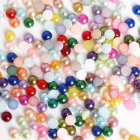 1.5/2/2.5/3/4/5/6/7/8/10/12/14mm Flatback Half Round Plastic ABS Imitation Pearl Beads For Jewelry Craft Scrapbook Decoration DI