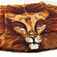 Lion Head Scarf Full Mane Acetate Made Japan