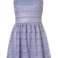 Metallic Lace Flippy Dress - Dresses  - Clothing