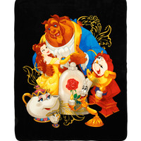 Disney Beauty And The Beast Characters Throw Blanket