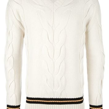 Mcq By Alexander Mcqueen Cable Knit Sweater