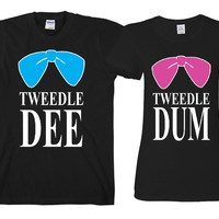"Tweedle Dee - Tweedle Dum   ""Cute Couples Matching T-shirts"""