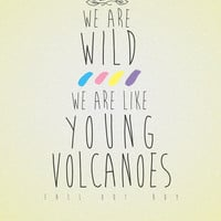 Fall Out Boy - 'Young Volcanoes' Art Print by Stelle