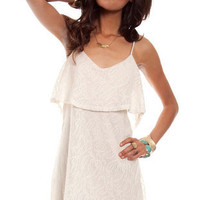 Annie Lace Dress in Ivory :: tobi