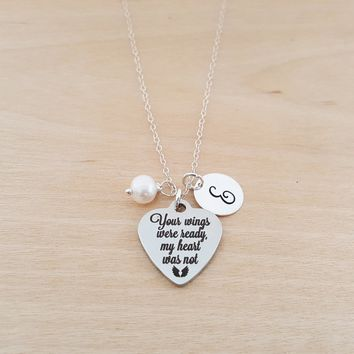 Your Wings Were Ready My Heart Was Not - Memorial Necklace