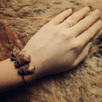 LARIX • 2 witchy wish bracelets • Friendship bracelet • Charm bracelet • Pagan wish bracelet • Friendship gift • Best friend • Biodegradable