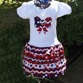 4th of July outfit, Patriotic dress, kids 4th of July dress