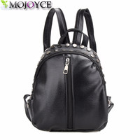 Fashion Small Leather Backpack Women Bags Preppy Style Backpack Girls School Bags Zipper Shoulder Women's Back Pack
