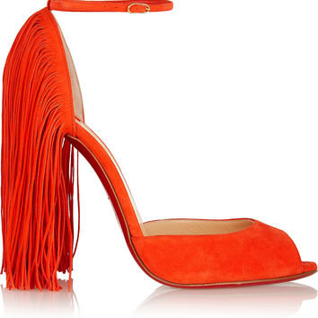 Christian Louboutin - Otrot 120 fringed suede sandals
