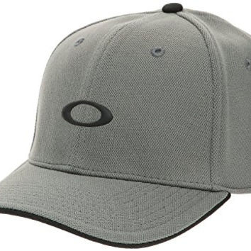 Oakley Men's Silicon Fitted Mesh Hat Cap - Sheet Metal (S/M)