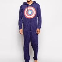 ASOS | ASOS Oneise With Captain America Print at ASOS