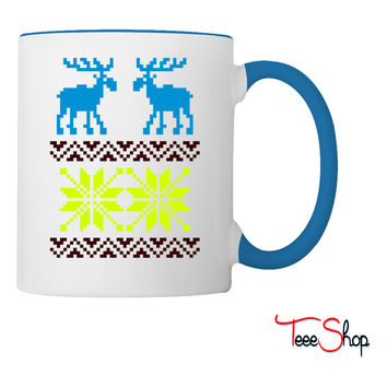 Moose Pattern Christmas Sweater Coffee & Tea Mug
