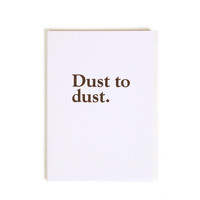 Standard Form Editions 'Dust to Dust' Notebook