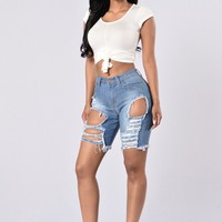 Khloe Shorts - Medium Blue