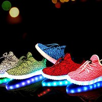 NEW Boys Girls Running Shoes Luminous Sneakers Led Kids Shoes