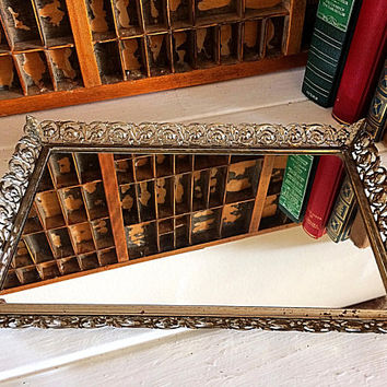 Vanity Mirror, Bathroom Mirror, Vintage Mirror, Wall Mirror, Makeup Mirror, French Mirror, Decorative Mirror, Ornate, Large Gold Mirror