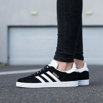 LMFUX5 Best Online Adidas Originals Wmns Gazelle OG Black/Footwear White/Gold Metallic Sneakers Classic Casual Shoes - G13265