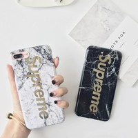 The New Marble Pattern Supreme Print Iphone 8 8 Plus & 7 7Plus Cover Case