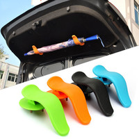 1pair 12.8x6.4cm ABS Rack Clip Hook on Trunk Cover Car Styling Interior Fashion Multifunctional Fastener Accessory for Umbrella