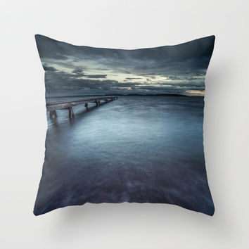 Just leave me alone Throw Pillow by HappyMelvin