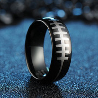 ring red Picture - More Detailed Picture about 6MM/8MM Top Quality Black Plated Tungsten Carbide Brazilian Football Mens Ring Wedding Alliance Free Shipment Picture in Rings from Shenzhen YH Tungsten Jewelry Co.,Ltd | Aliexpress.com | Alibaba Group
