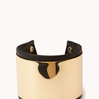 Faux Leather Plated Cuff