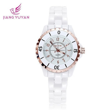 reloj mujer Original SKONE Brand Luminous Hand Fashion Dress Watches Women White Ceramic Watch Analog Quartz Wristwatches Ladies = 1956611012