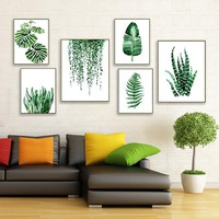 Modern Style Plant Wall Art Painting Canvas Art Picture Painting Print Posters Wall Pictures For Living Room Home Decor No Frame