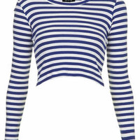 Long Sleeve Stripe Rib