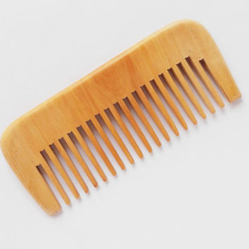 Natural wood comb Beard comb Personalized wooden comb pocket comb No static Moustache comb castomized comb Gift for Him for Dad men man guys