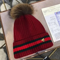 GUCCI Fashion Bee Embroidery Beanies Knit Winter Hat Cap