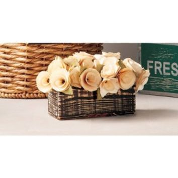 Smith & Hawken® Floral Table Arrangement Curled Wood