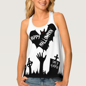 Zombie Happy Halloween Horror Funny customizable Tank Top