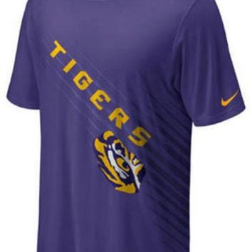 LSU Tigers Youth t-shirt Nike Dri Fit NWT new with tags NCAA Geaux Tigers SEC